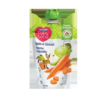 Purée pour bébé 6 mois+, 128 ml, pomme et carotte