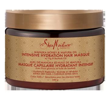 Masque capillaire hydratant intensif pour cheveux extra sec, 340 g, miel de manuka et huile de mafura