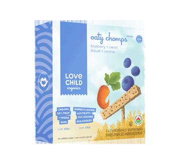 Oaty Chomps barres biologiques, 6 x 23 g, bleuet + carotte