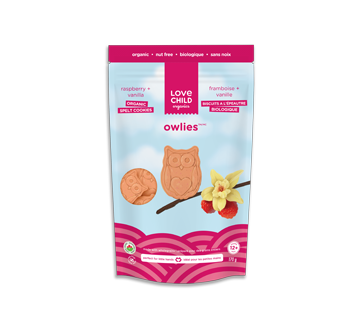 Owlies biscuits biologiques, 170 g, framboise + vanille