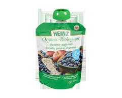 Image du produit Heinz - Purée biologique bleuet pomme avoine sachet, 128 ml