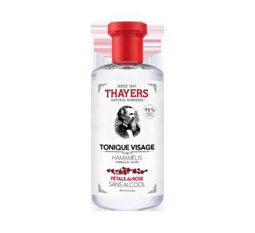 Tonique visage sans alcool formule à l'hamamélis et à l'aloès, 355 ml, pétale de rose