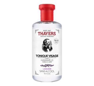 Tonique visage sans alcool formule à l'hamamélis et à l'aloès, 355 ml, lavande