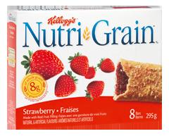 Image du produit Kellogg's - Nutri-Grain barres de céréales aux fraises, 295 g