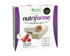 Image du produit Adrien Gagnon - Nutriforme barres de remplacement de repas, 5 x 65 g, délice fruité au yogourt