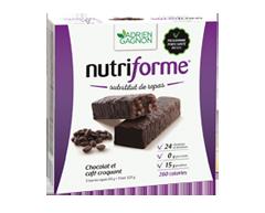 Image du produit Adrien Gagnon - Nutriforme barres, 5 barres, chocolat et café croquant