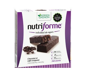 Image du produit Adrien Gagnon - Nutriforme barres de remplacement de repas, 5 x 65 g, chocolat et café croquant
