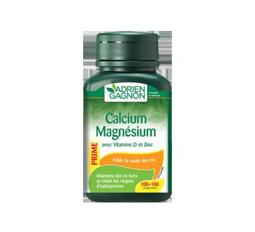 Image du produit Adrien Gagnon - Calcium magnésium avec vitamine D et zinc, 200 unités