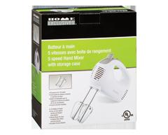 Image du produit Home Exclusives - Batteur à main 5 vitesses avec boite de rangement, 17.5 x 7.5 x 20 cm