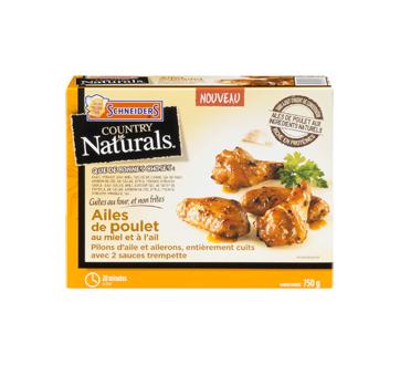 Country Naturals ailes de poulet, 750 g, miel et ail