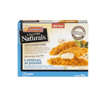 Country Naturals lanières de poulet, 750 g