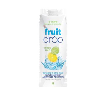 Breuvage à base d'eau naturellement aromatisée, 1 L, citron lime