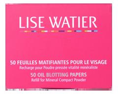 Image du produit Lise Watier - Feuilles matifiantes pour le visage, 50 unités