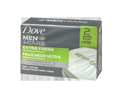 Image du produit Dove Men + Care - Fraîcheur Ultra pain nettoyant pour le corps et le visage, 2 x 113 g