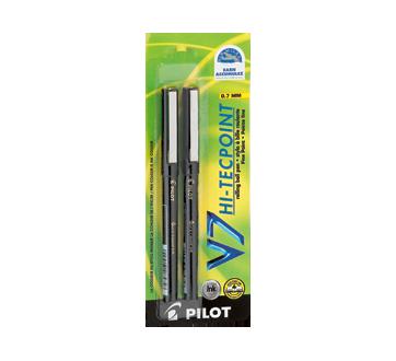 Image 2 du produit Pilot - V7 Hi-Tecpoint stylo à bille fine, 2 unités, noir