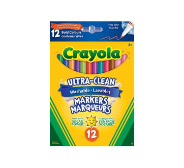 Marqueurs lavables couleurs vives, 12 unités