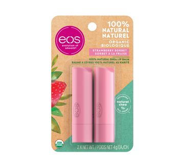 Smooth Stick baume à lèvres, 2 x 4 g, sorbet à la fraise