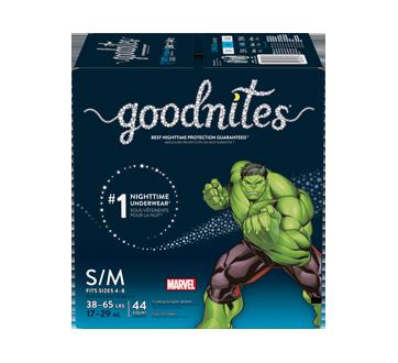 Goodnites sous-vêtements pour la nuit pour garçons, 44 unités, petit - moyen