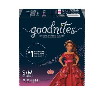 Goodnites sous-vêtements pour la nuit pour filles, 44 unités, petit - moyen