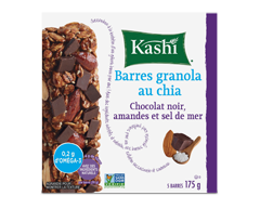 Image du produit Kashi - Barres granola, 175 g, chia, chocolat noir, amandes et sel de mer