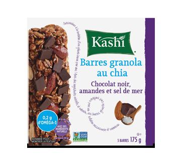Barres granola, 175 g, chia, chocolat noir, amandes et sel de mer