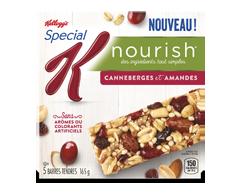 Image du produit Kellogg's - Special K Nourish barres canneberges et amandes, 165 g