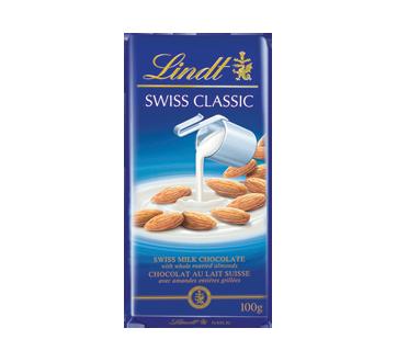 Swiss Classic chocolat au lait, 100 g, amandes