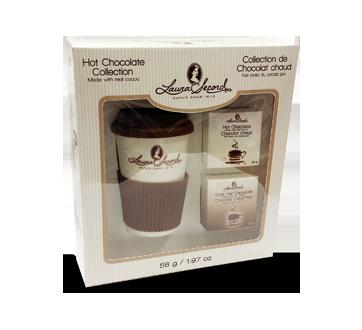 Ensemble cadeau tasse de voyage et chocolat chaud