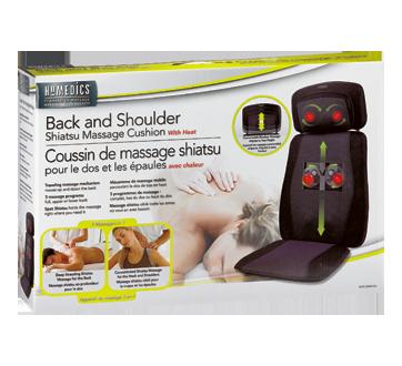 coussin de massage shiatsu dos et paules avec chaleur 1 unit homedics accessoires pour. Black Bedroom Furniture Sets. Home Design Ideas