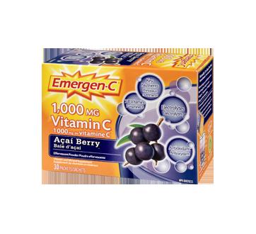 Image 1 du produit Emergen-C - Emergen-C vitamine C, 30 unités, baie d'açai