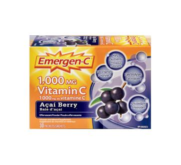 Image 3 du produit Emergen-C - Emergen-C vitamine C, 30 unités, baie d'açai