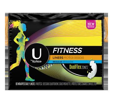 Fitness protège-dessous, 80 unités, absorption légère, non parfumés