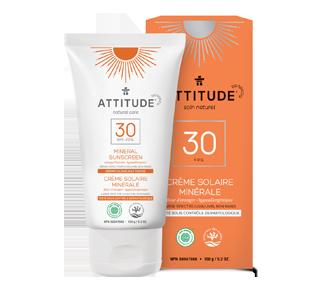 Crème solaire 100 % minérale FPS 30, 150 g, fleur d'oranger