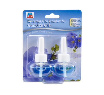 Recharges d'huile parfumée, 2 X 20 ml, linge frais