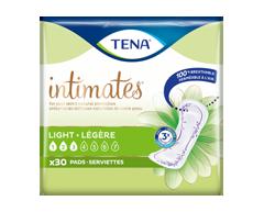 Image du produit Tena - Serviettes ultraminces absorption très légère, longueur régulière, 30 unités