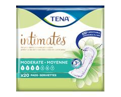 Image du produit Tena - Serviettes absorption moyenne, longueur régulière, 20 unités