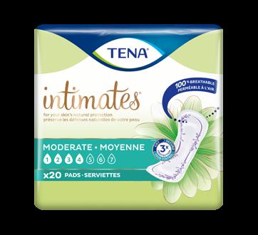 Intimates serviettes absorption moyenne régulières, 20 unités