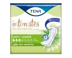 Image du produit Tena - Serviettes ultraminces absorption très légère, longues, 24 unités