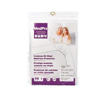 Prot ge matelas contour en vinyle 1 unit medpro - Protege matelas incontinence ...