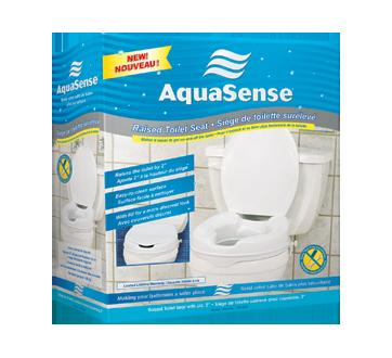 Image 2 du produit AquaSense - Siège de toilette surélevé avec couvercle