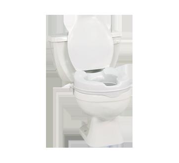 si ge de toilette sur lev avec couvercle aquasense quipement et accessoires de mobilit. Black Bedroom Furniture Sets. Home Design Ideas