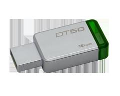 Image du produit Kingston - DataTraveler 50 clé USB 3.0 16Go, 1 unité, métallique et vert