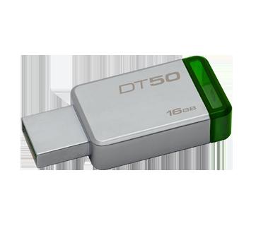 DataTraveler 50 clé USB 3.0 16Go, 1 unité, métallique et vert