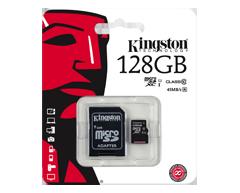 Image du produit Kingston - Carte mémoire Flash MicroSDXC 128 Go classe 10, 1 unité