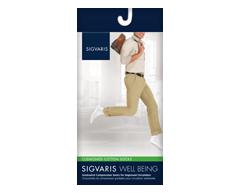 Image du produit Sigvaris - Coton coussiné pour hommes 182 , Jarret, taille A, blanc