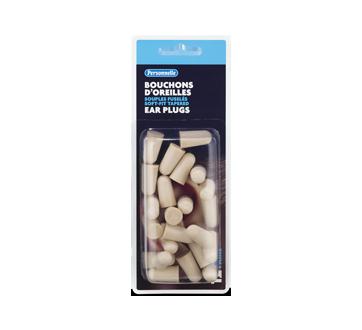 Image du produit Personnelle - Bouchons d'oreilles souples fuselés, 12 paires