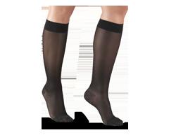 Image du produit Truform - Bas de contention 15-20 mmhg, bas genou, moyen, noir