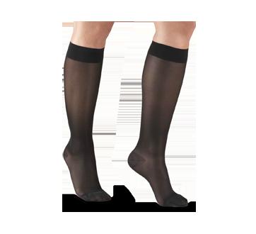 Image du produit Truform - Bas de contention 15-20 mmhg, bas genou, grand, noir