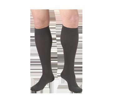 Image du produit Truform - Bas de contention 15-20 mmhg, bas pour hommes, grand, charbon