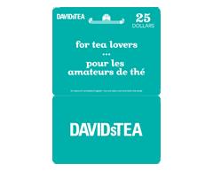 Image du produit Incomm - Carte-cadeau David's Tea de 25 $, 1 unité
